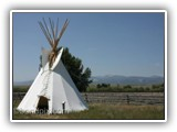 Tee Pee at Grant-Kohrs Ranch