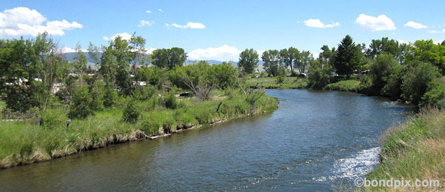 Clark Fork River in Deer Lodge Montana