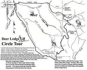Map of the Deer Lodge Loop