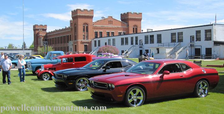 Show N Shine Car Show Parade in Deer Lodge Montana